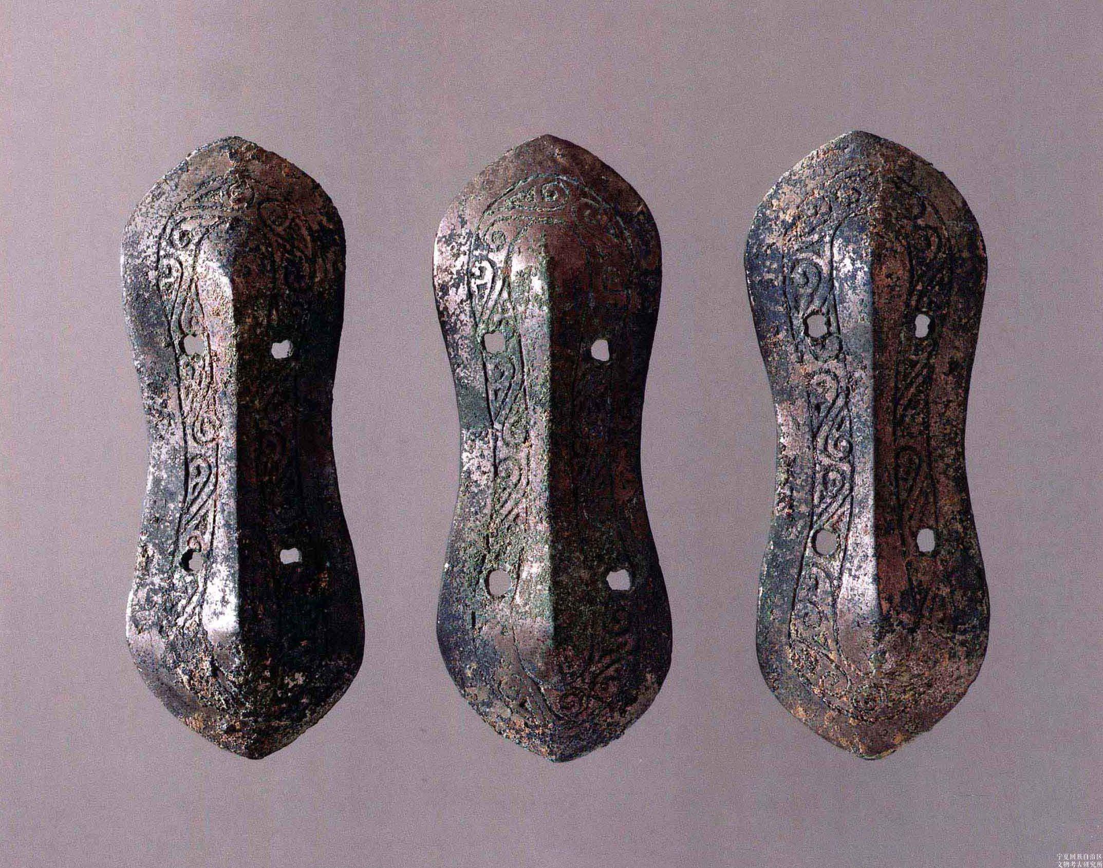 连云纹铜带饰(3件)