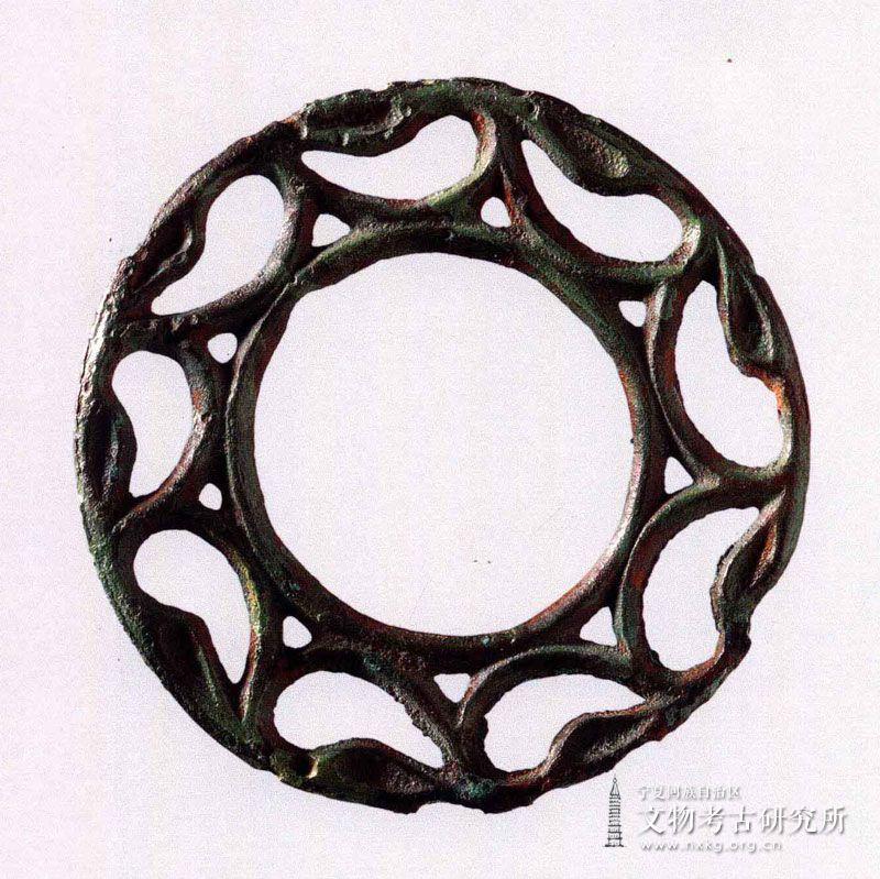 双圈透雕铜环