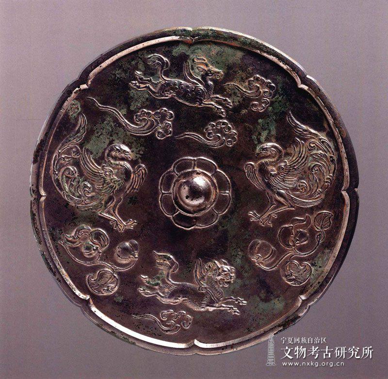 葵边鸾兽铜镜