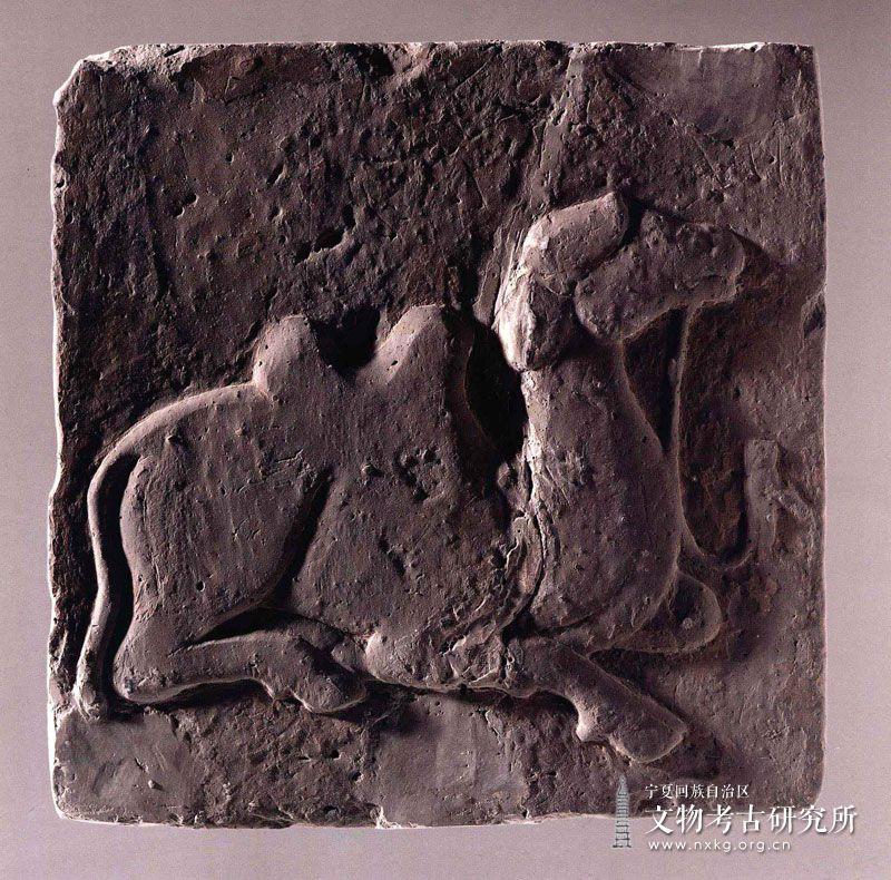 骆驼图砖雕