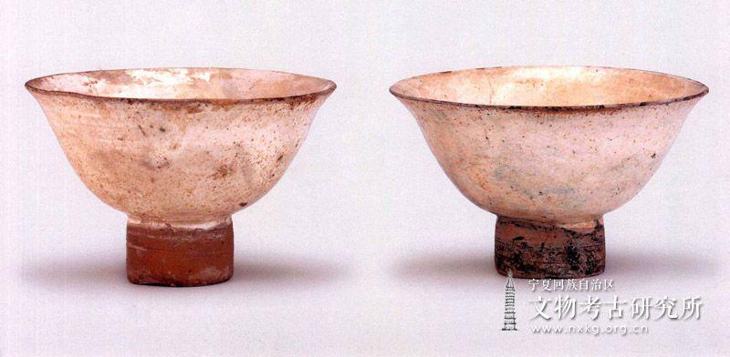 白瓷高足碗(2件)