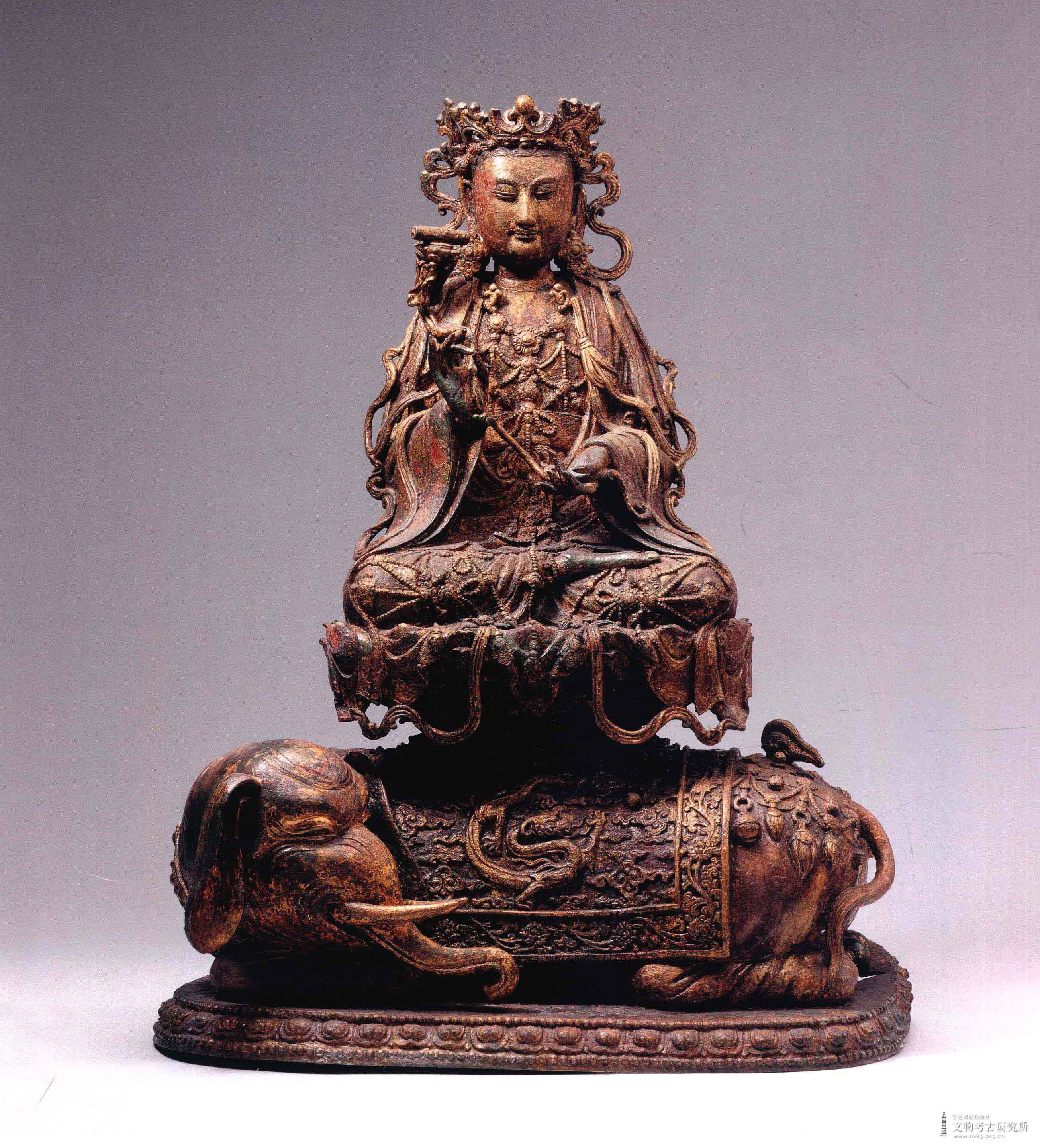 鎏金普贤菩萨铜造像